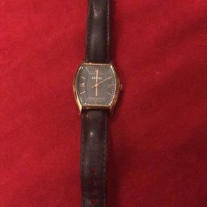 Fossil Wallace Leather Watch smoke and rose women